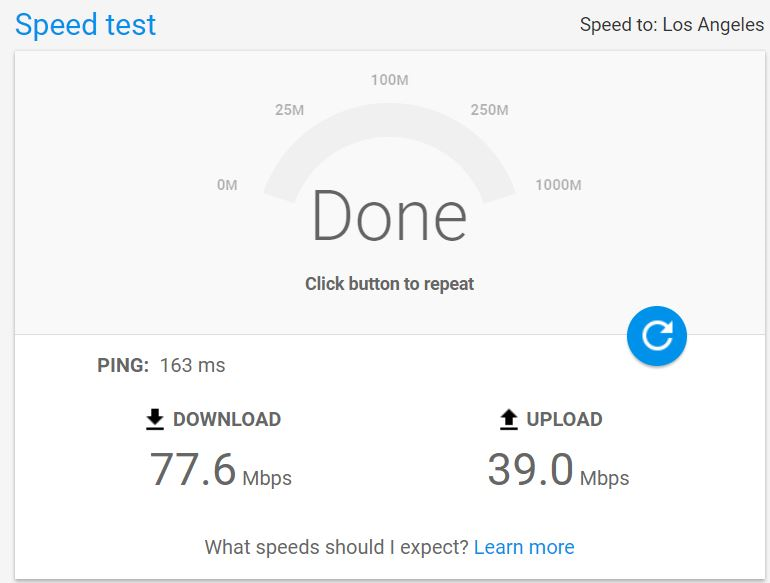 Google 推出的網速測試工具 Google Fiber Speed Test